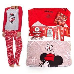Disney Minnie Mouse Pajamas Set NWT